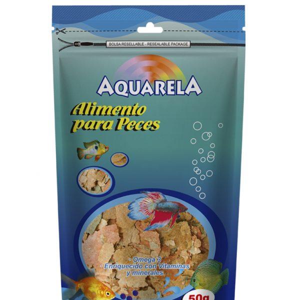 Alimento para peces aquarela por 50g ref bag f brica for Alimento para peces