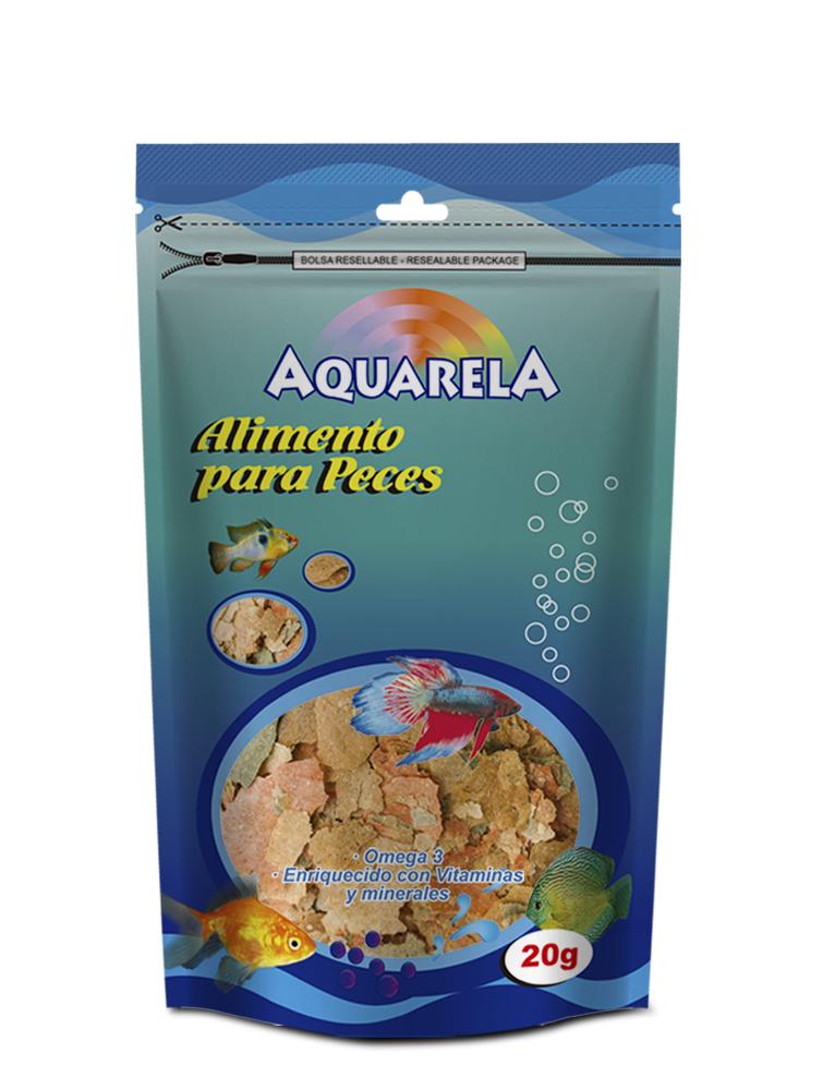 Alimento para peces aquarela por 20g ref ba f brica y for Comida para peces